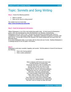 Lesson #11: Sonnet and Musical Notes