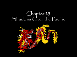 Chapter 23 Shadows Over the Pacific