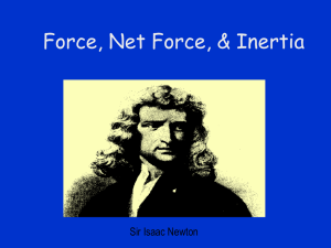 Force, Net Force, and Inertia