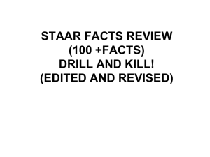 STAAR FACTS REVIEW (100 +FACTS)