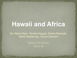 Hawaii and Africa