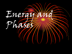 Energy / Phases
