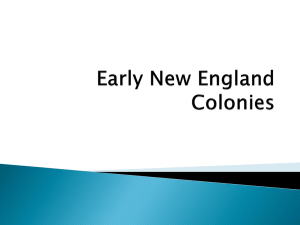 Early New England Colonies