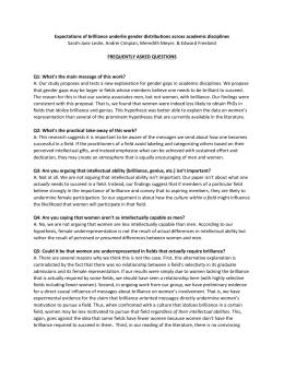 FAQ sheet - Daily Nous