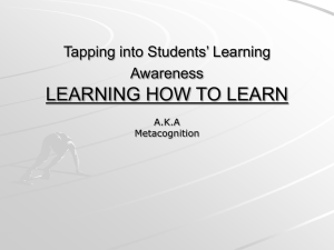 Learning How to Learn ppt