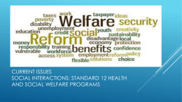 standard 12 health and social welfare programs