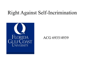 Lecture - Right Against Self
