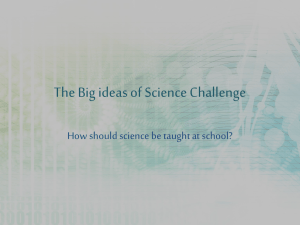 The Big ideas of Science Challenge - THE GO