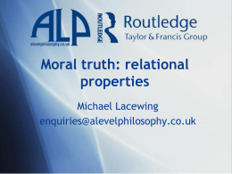 Moral truth: relational properties