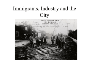 Lecture S3 -- Industrialization and Immigration in the