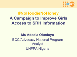 No Hoodie No Honey Campaign for Girls SBCC