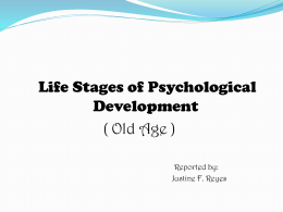 June 26,2015 Dr. Song Ha Young Development Psychology Justine