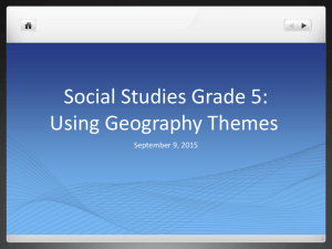 Using Geography Themes