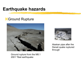 Earthquake Hazard Maps