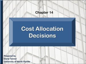 Cost Accounting Chapter 14 - University of North Florida