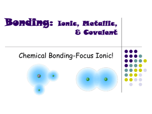 Bonding: Ionic, Metallic, & Covalent