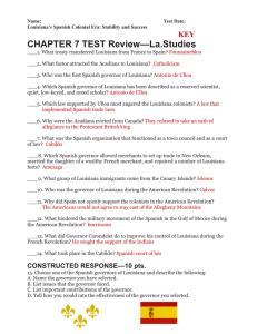 Ch. 7 Test Review & Study List