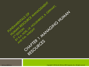 Chapter 001 Managing Human Resources