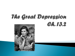 The Great Depression Ch. 13.2