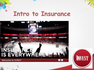 Chapter 01- Introduction to Insurance