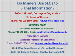 Do Insiders use SEOs to Signal Information?