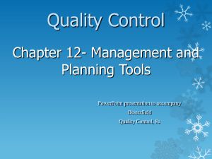 Quality Systems Management Management Tools