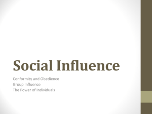 Social Influence - School District of Cambridge