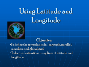Using Latitude and Longitude