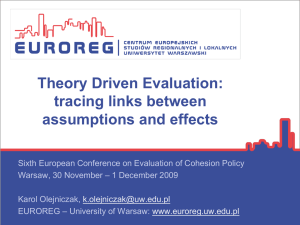 Theory driven evaluation
