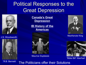Canada_s Great Depression_Politics