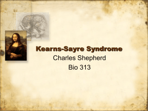 Kearns-Sayre Syndrome