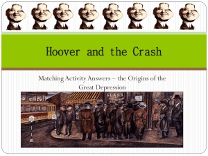 Hoover and the Crash - pams