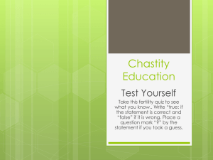 Chastity Education
