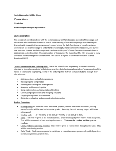 7th grade 2015-16 Science Syllabus