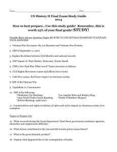US History II Final Exam Study Guide 2014 How to best prepare