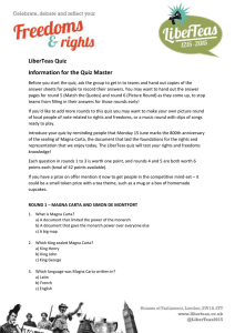 LiberTeas Quiz Information for the Quiz Master