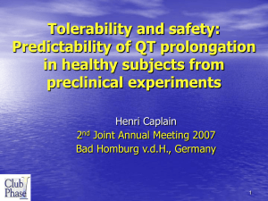 Tolerability and safety