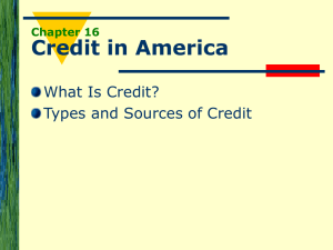 The History of Credit
