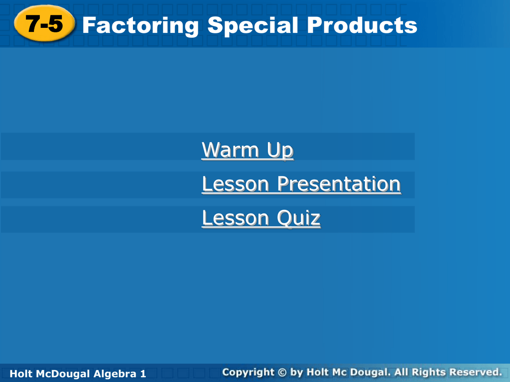 Factoring Special Products Worksheet With Answers Images - worksheet ...