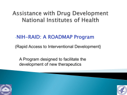 The NIH-RAID Pilot Program