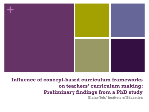 Influence of concept based curriculum frameworks on teachers