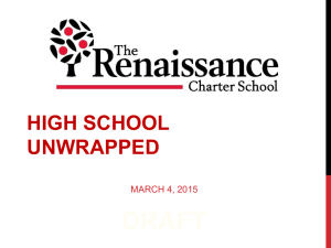high school unwrapped - The Renaissance Charter School