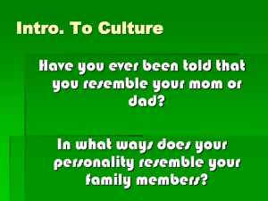 Intro. To Culture