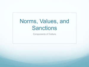 Norms, Values, and Sanctions