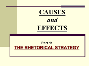 Causes and Effects: Background PPT