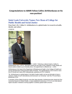 Saint Louis University Names New Dean of College for Public