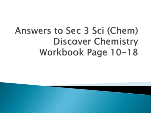 Answers to Sec 3 Sci (Chem) Discover Chemistry Workbook Page