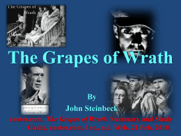 I need help with an essay on The Grapes of Wrath...?