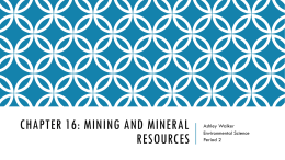 Where to find an essay on mineral mining?