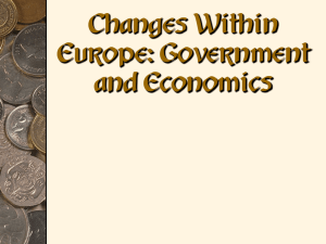 Economic and Political changes in Europe notes
